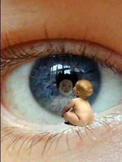 Baby on eye